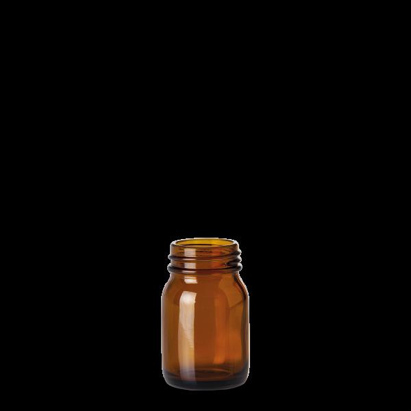 75 ml Weithalsglas - Braunglas - GL 40 Gewinde