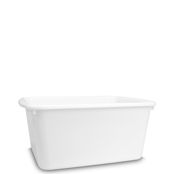 17 L Transportwanne - eckig - weiß