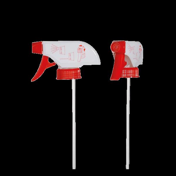 Sprühpistole - weiß / rot - DIN 28 Gewinde - 235mm