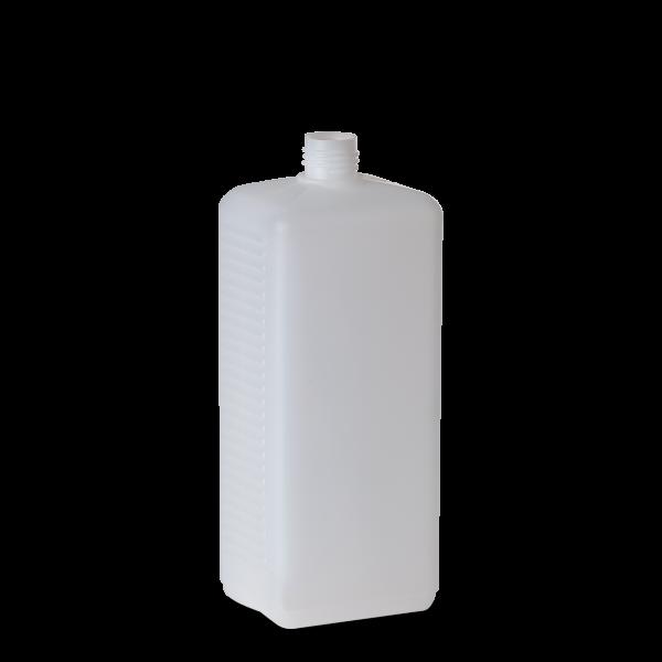 1000 ml Vierkantflasche - natur - DIN 25 Gewinde