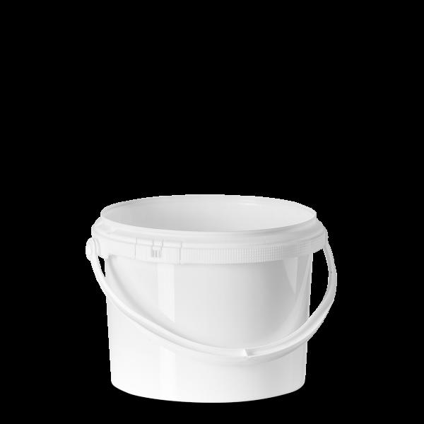 3 Liter Eimer - rund - weiß - ohne Deckel