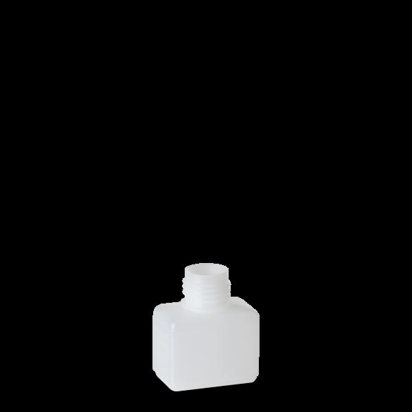 50 ml Vierkantflasche HDPE natur RD 25 rechteckig