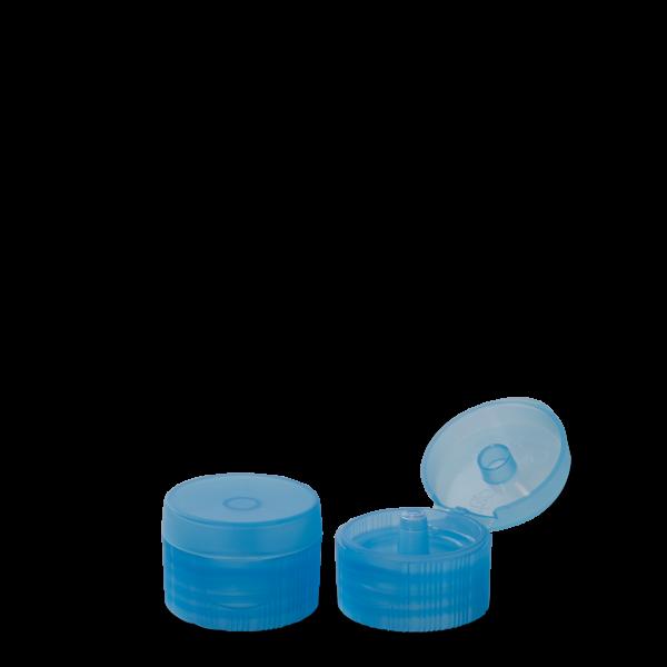 Klappscharnierverschluss - hellblau - DIN 28