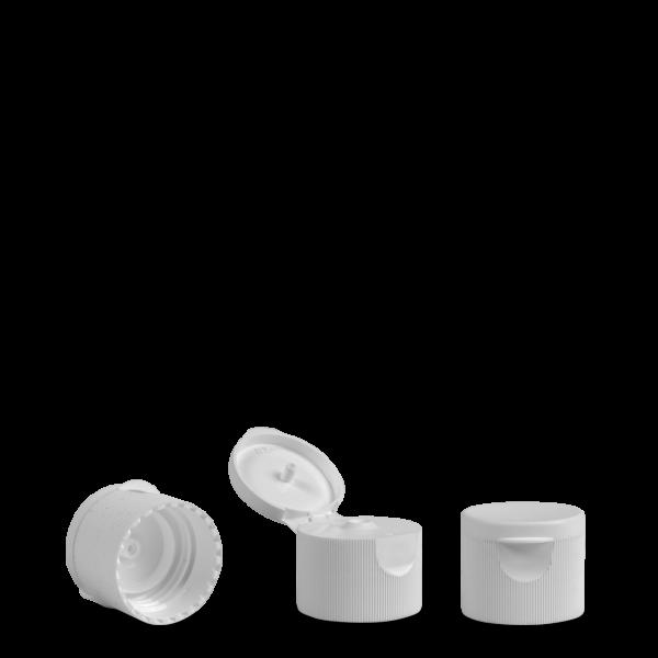 Klappscharnierverschluss - weiß - DIN 25 Gewinde