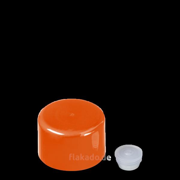 Doppelwandverschluss - orange - DIN 22 Gewinde