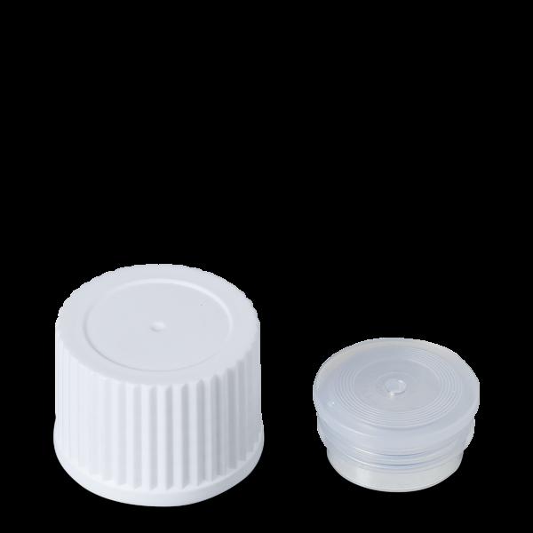 Schraubverschluss Spritzeinsatz - weiß - DIN 25