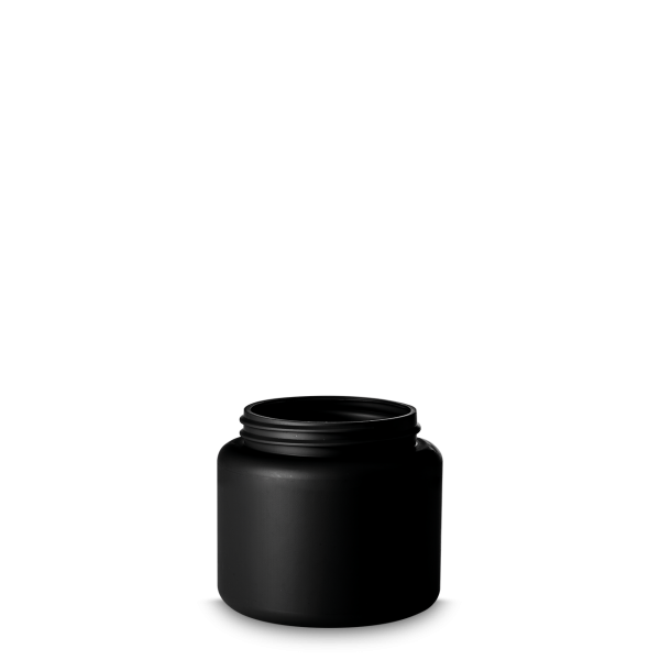 125ml Dose - rund - schwarz - DIN 60 Gewinde
