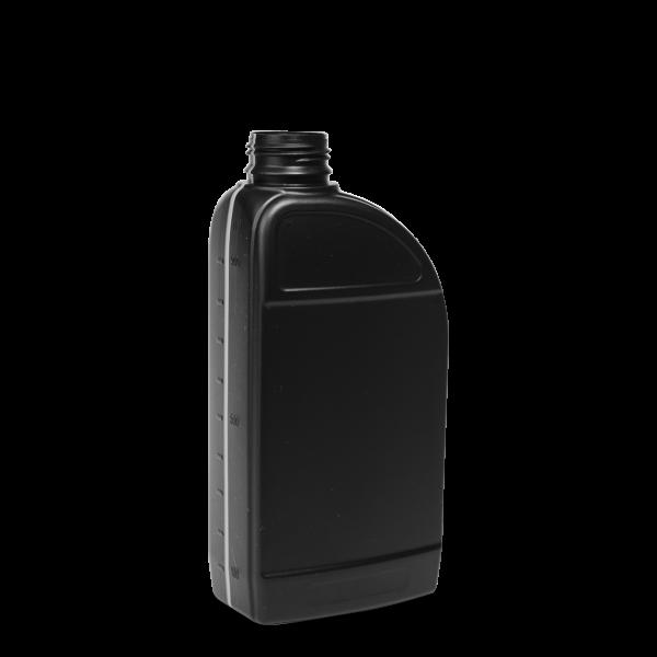 1000 ml Motorölflasche - schwarz - OV 38 Gewinde