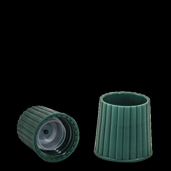 Messbecherverschluss - grün - DIN 25 Gewinde