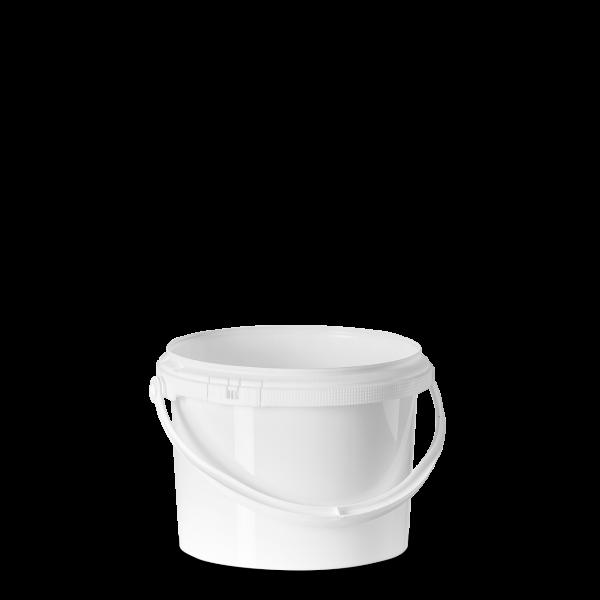 2,5 Liter Eimer - rund - weiß - ohne Deckel