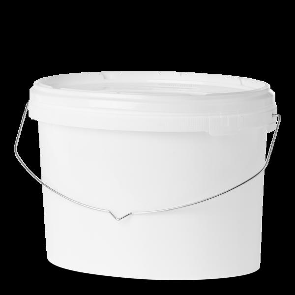 18 Liter Eimer - oval - weiß - ohne Deckel
