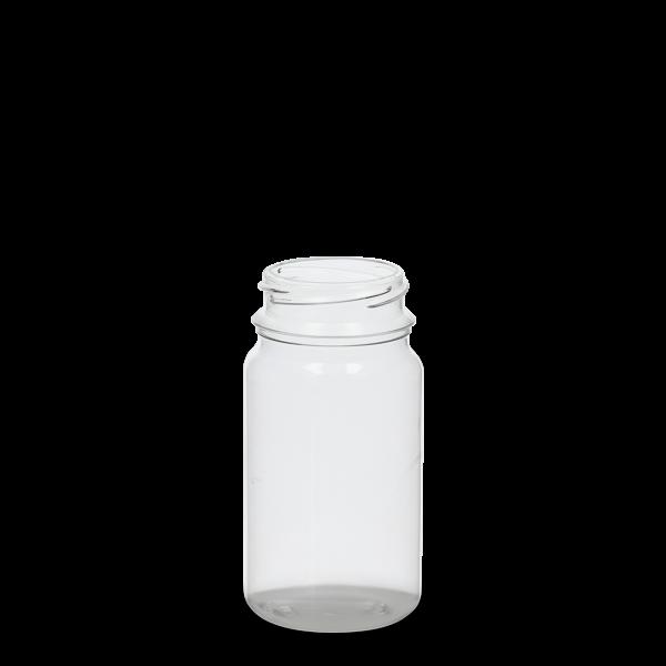 125 ml PET-Dose - rund - klarsichtig