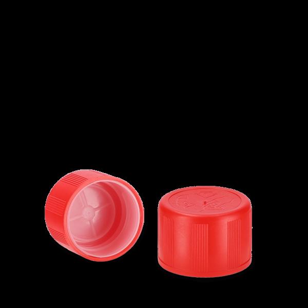 Verschlüsse für Kunststoffflaschen HDPE rot 28