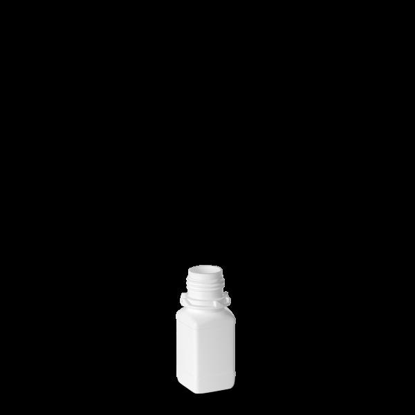 50ml Vierkantflasche - weiß - OV 28 Gewinde