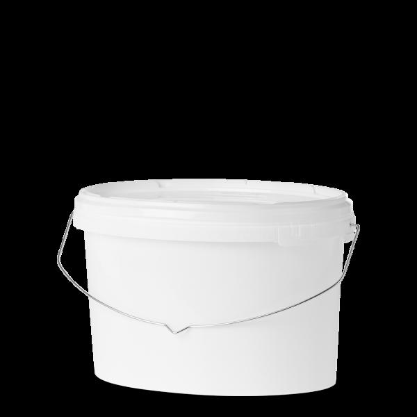 5,5 Liter Eimer - oval - weiß - ohne Deckel