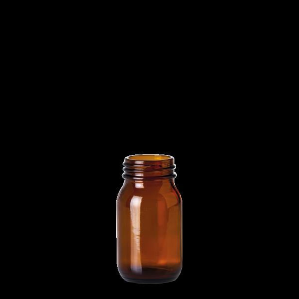 100 ml Weithalsglas - Braunglas - GL 40 Gewinde