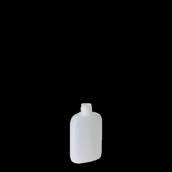 50 ml Ovalflasche - natur - DIN 18 Gewinde