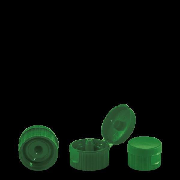 Klappscharnierverschluss - grün - PP - DIN 28