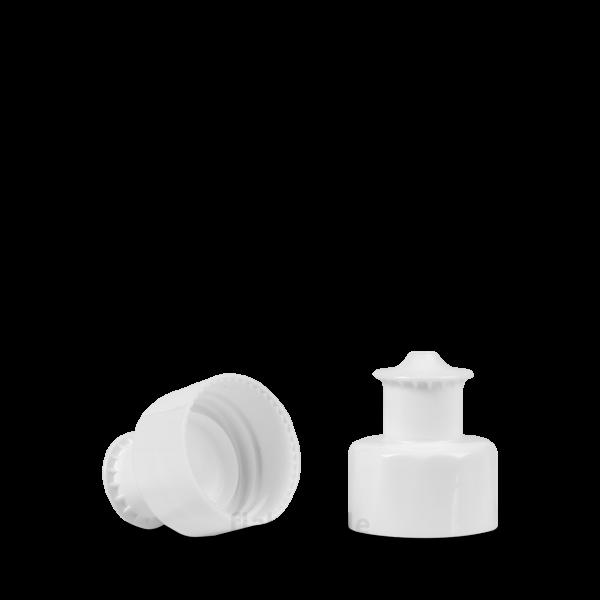 Push Pull Verschluss - weiß - DIN 28/410