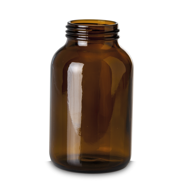1000 ml Weithalsglas - Braunglas - GL 68 Gewinde