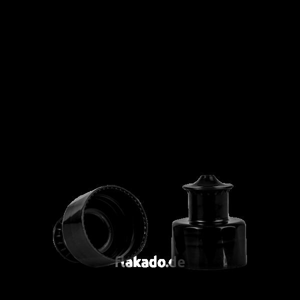 Push Pull Verschluss - schwarz - DIN 28/410