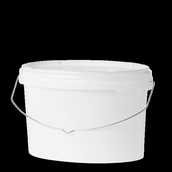 12 Liter Eimer - oval - weiß - ohne Deckel