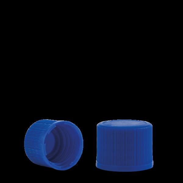 Verschluss - blau - DIN 18 Gewinde