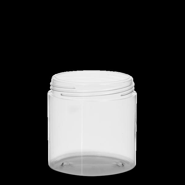 500 ml Weithalsdose - rund - klarsichtig