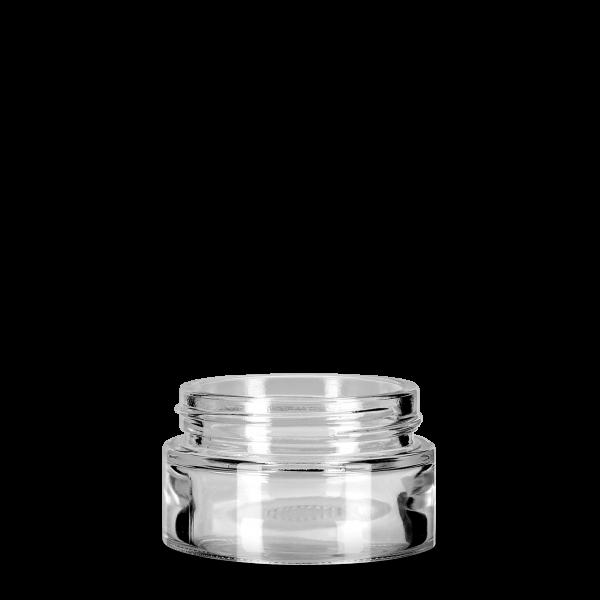 50 ml Kosmetiktiegel - aus Klarglas