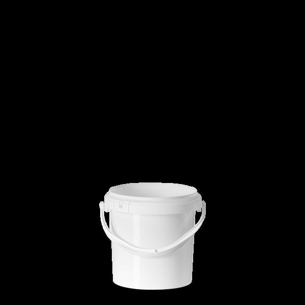 1 Liter Eimer - rund - weiß - ohne Deckel