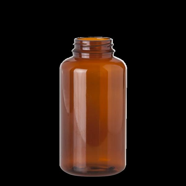 1000 ml PET-Dose - rund - braun