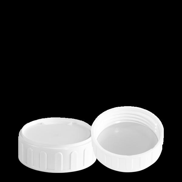 Verschluss mit Siegelfolie - weiß - OV 63 Gewinde