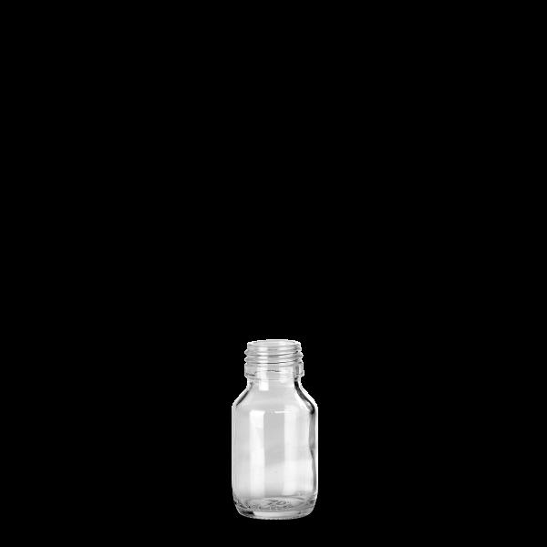 50 ml Verpackungsflasche - Klarglas - PP 28