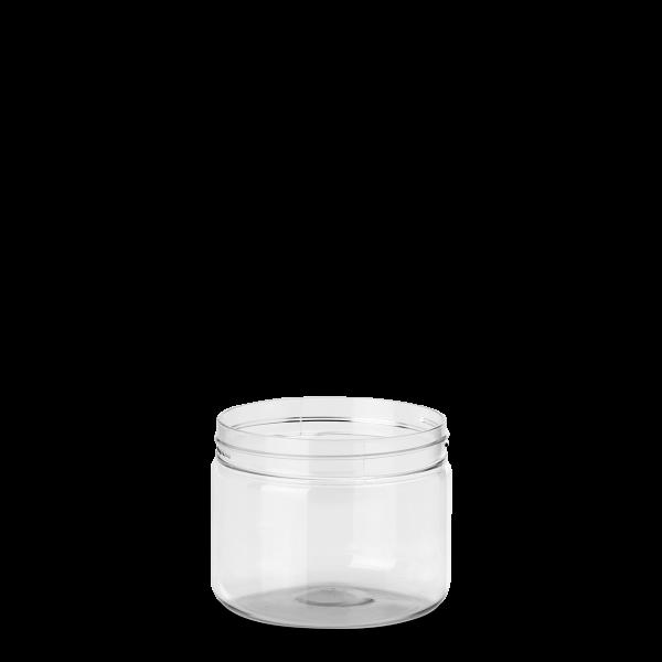 250 ml PET Dose - rund - klarsichtig