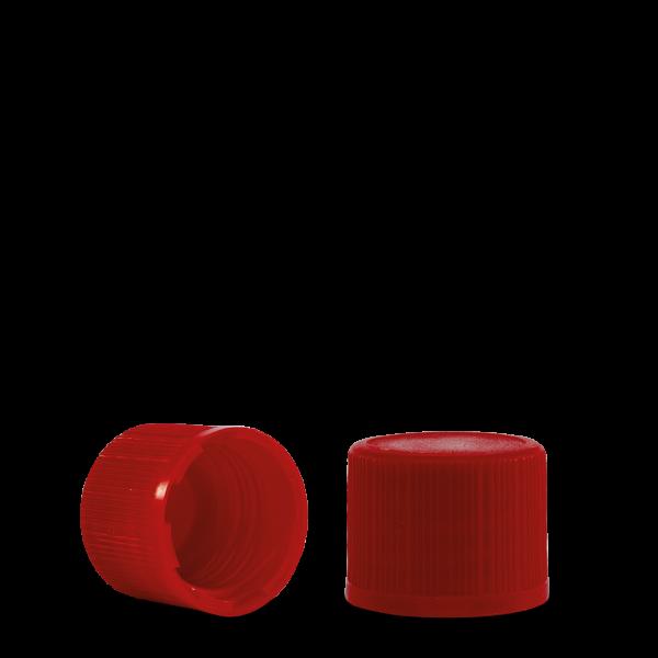 Verschluss - rot - DIN 18 Gewinde