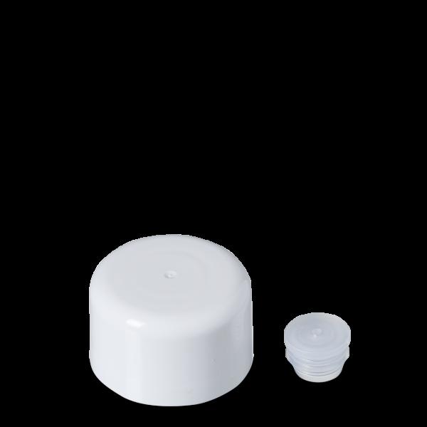 Doppelwandverschluss - weiß - DIN 18 - 100ml