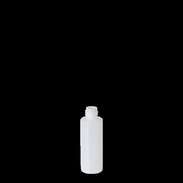50 ml Rundflasche - natur - DIN 18 Gewinde