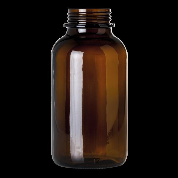 2500 ml Weithalsglas - Braunglas - OV 80 Gewinde