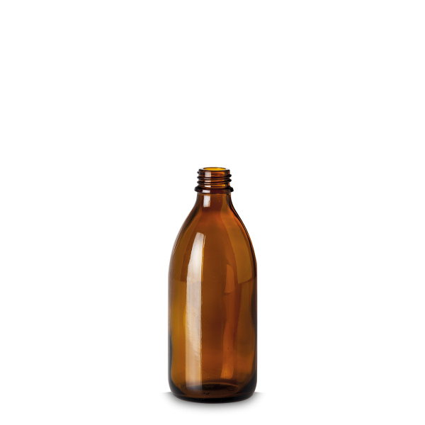 200 ml Enghalsglas - Braunglas - GL 22 Gewinde