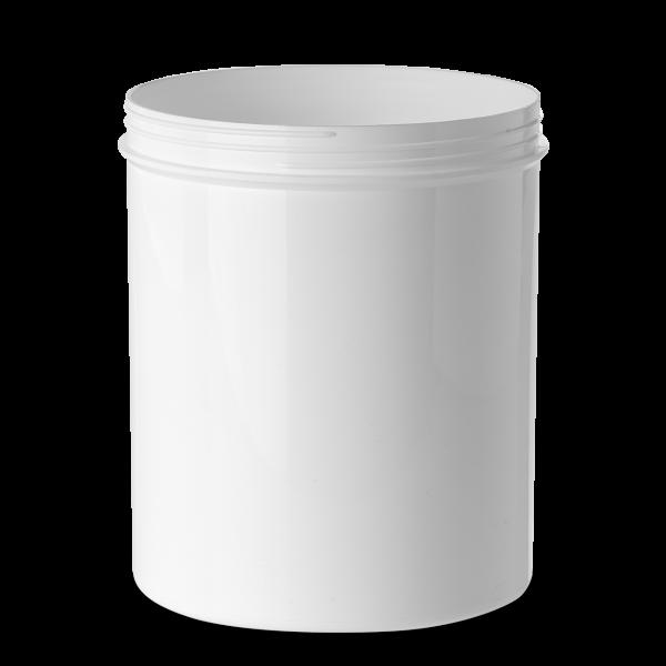 2000 ml Schraubdose - rund - weiß - Gewinde 130 mm