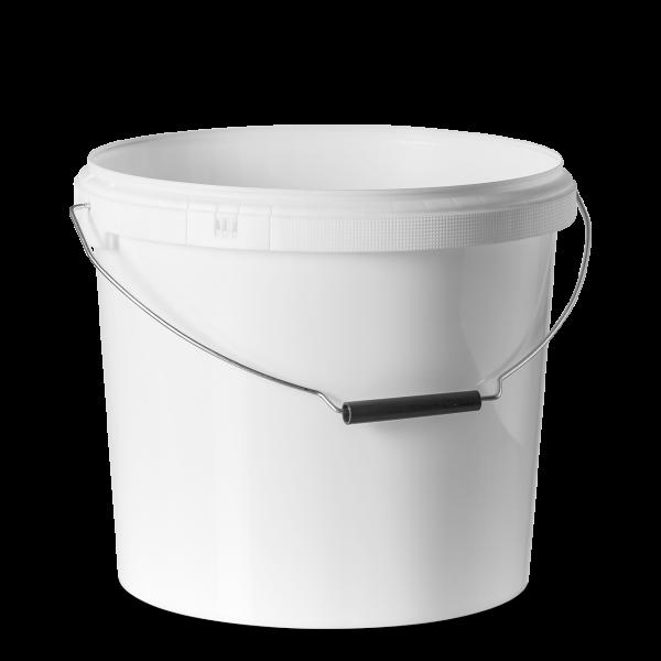17 Liter Eimer - rund - weiß - ohne Deckel