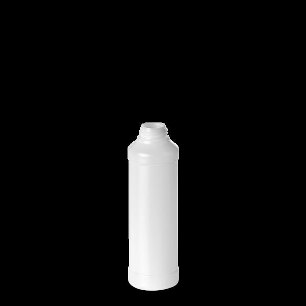 250 ml Rundflasche - natur - DIN 28 Gewinde