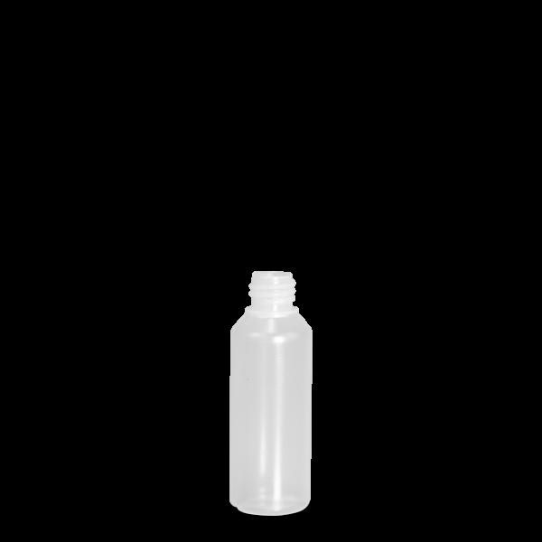 100 ml Rundflasche Liquid - natur - DIN 18 Gewinde