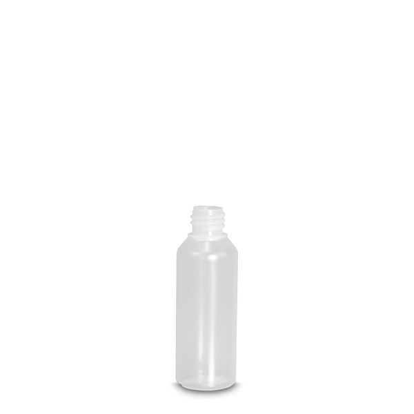 80 ml Rundflasche Liquid - natur - DIN 18 Gewinde
