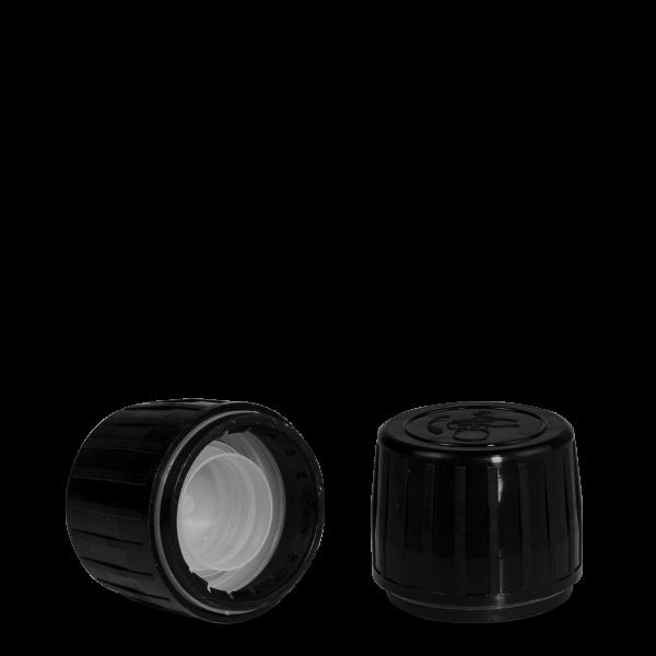 Drück & Dreh Verschluss - schwarz