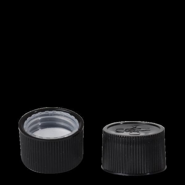 Drück & Dreh Verschluss - schwarz - DIN 28 Gewinde