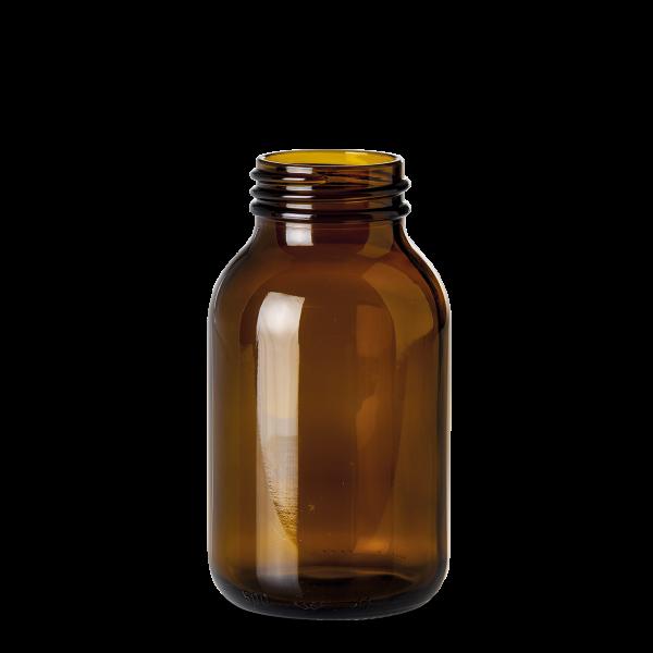 500 ml Weithalsglas - Braunglas - GL 55 Gewinde