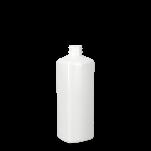 500ml Vierkantflasche - PET - weiß