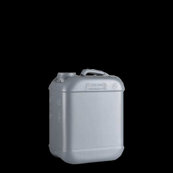 5 Liter Kunststoff Kanister silber - DIN 51 - UN-X