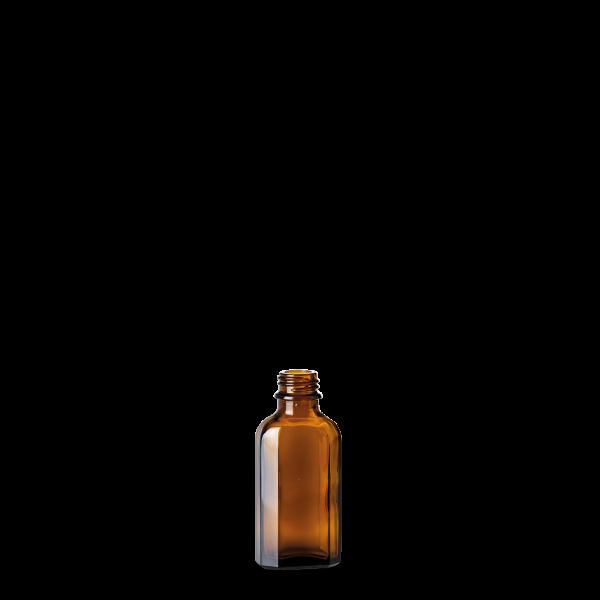 50 ml Meplatflasche - Braunglas - GL 22 Gewinde